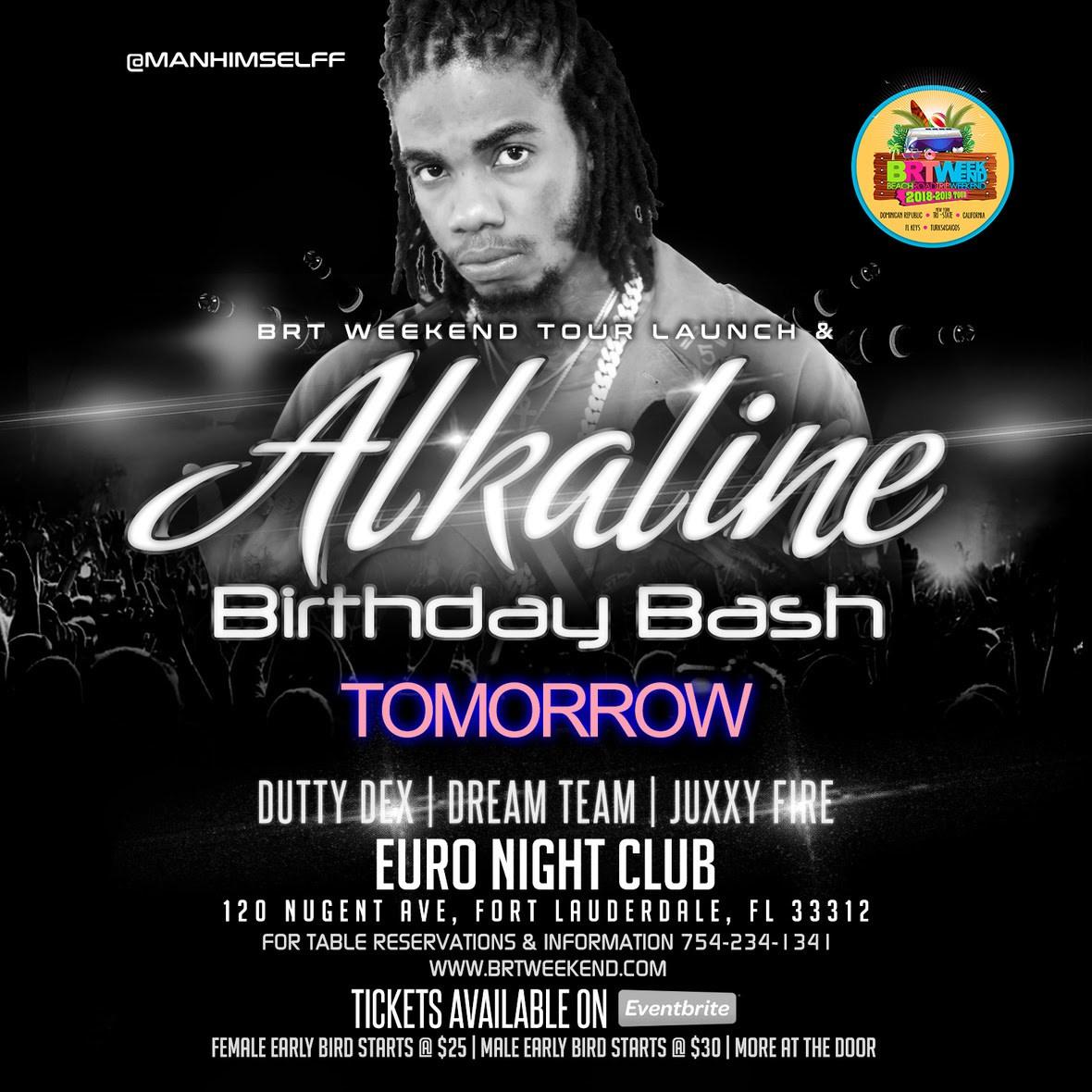 alkaline s birthday bash club euro ft lauderdale fl